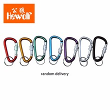 1Pcs Pear Shape Outdoor Camping Equipment Aviation Aluminum Locking Deduction Quickdraw Carabiner Keychain Hook Well Sell