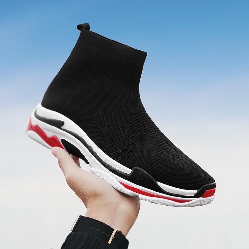 Del Negro Hombres Adulto Verano Chaussure Rojo Zapatos Hombre Deslizamiento Casual Calzado Zapatillas En De Alto Homme Transpirable top qwEBCw