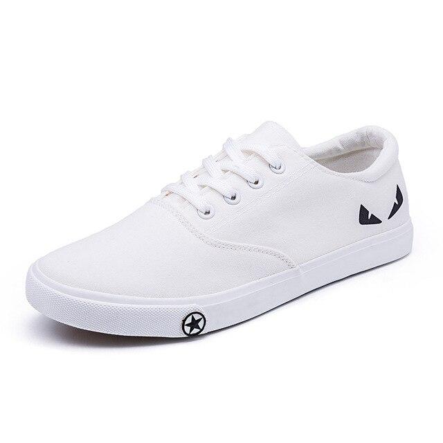 cf030b5f Los hombres de la lona calzado bajo Casual elástico ayuda baja zapatos  pareja clásico tela primavera