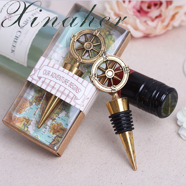 Xinaher wedding favor 5pcs retro alloy compass wine stopper wedding xinaher wedding favor 5pcs retro alloy compass wine stopper wedding supplies business gifts champagne stopper wedding junglespirit Images