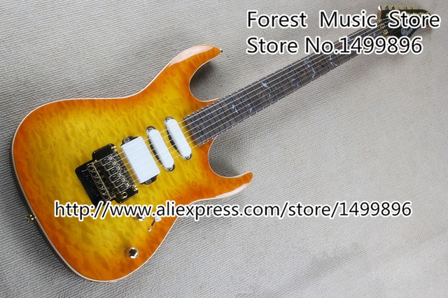 Cheap Custom Shop Electric Guitars China Gold Floyd Rose Tremolo & Tree Of Life Inlay Left Handed Custom Available