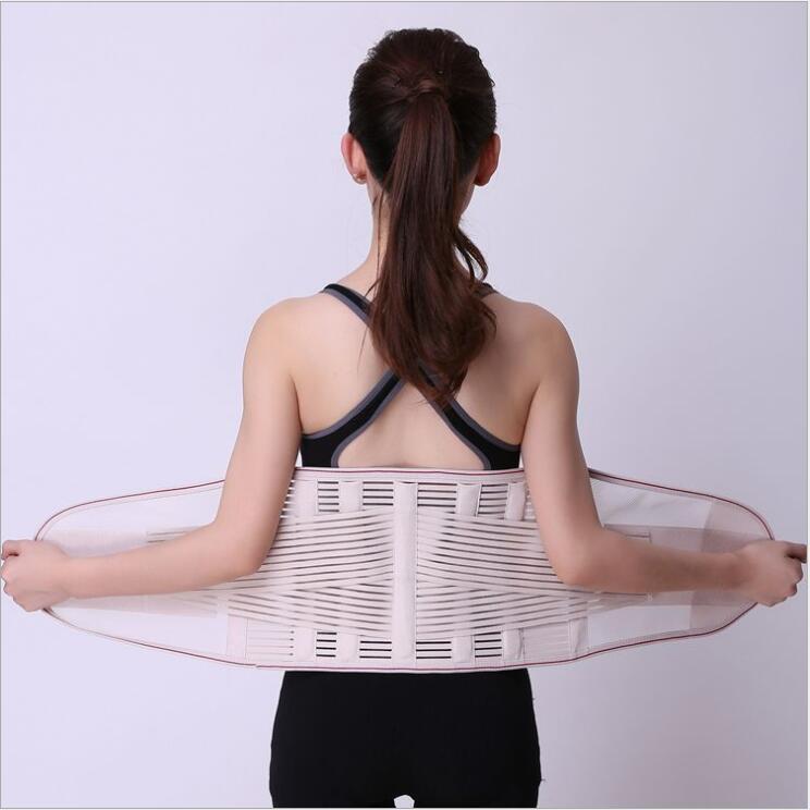 Corset Back Waist Support Belt Back Support Brace for Women Men Sports Belts Adjustable Elastic Lumbar Support Sports Belts