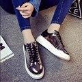 2016 Новый Женская Обувь Лианы Платформы Обувь Женщина Квартиры ИСКУССТВЕННАЯ Кожа Повседневная Обувь