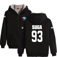Bangtan Boys Kpop Winter Casual BTS Hoodies Clothes Zipper Hoodie Men Women Thick Warm Sweatshirt Plus
