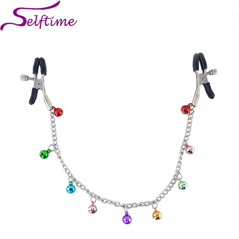 2015 Hot New Nipple Clamps with Bells,Sexy Breast Clips Sex Products,Special Adult Erotic Toys For Woman Retail S-NC107 image