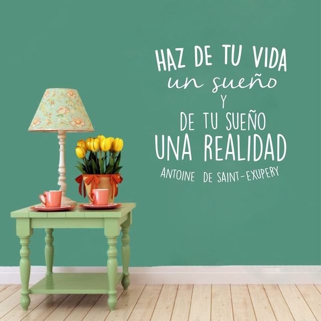 Positive Quotes In Spanish And English: Spanish Inspirational Positive Quotes Vinyl Wall Sticker