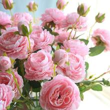 DIY Artificial Flowers Western Roses European Peony Flowers Home Party Decorative Festival Flowers Ornaments Decorations