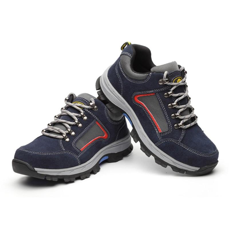 男性の鋼つま先キャップ作業安全靴男性不滅安全靴軽量産業建設靴メンズ冬のブーツ  グループ上の セキュリティ & プロテクション からの 安全靴ブーツ の中 1