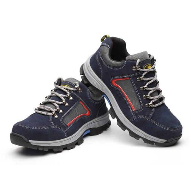 גברים בטיחות בעבודת כובע הבוהן פלדה של גברים בלתי ניתן להריסה בטיחות נעליים קל משקל תעשייתי בנייה נעל Mens חורף מגפיים