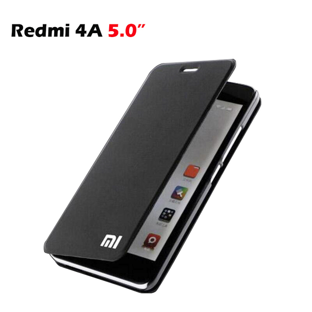 timeless design db641 59fe5 Xiaomi Redmi 4A Case Cover Luxury PU Flip Case for Xiaomi Redmi 4A Wallet  Funda Xiomi Redmi 4A stand Cover Protector Shell 5.0