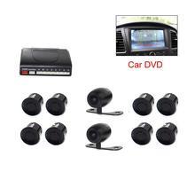 Универсальный DVD Видео Датчик Парковки Автомобилей Обратный Радиолокатор Сигнализация Помощь 8 Датчики с Камерой Вид Спереди Камера заднего вида