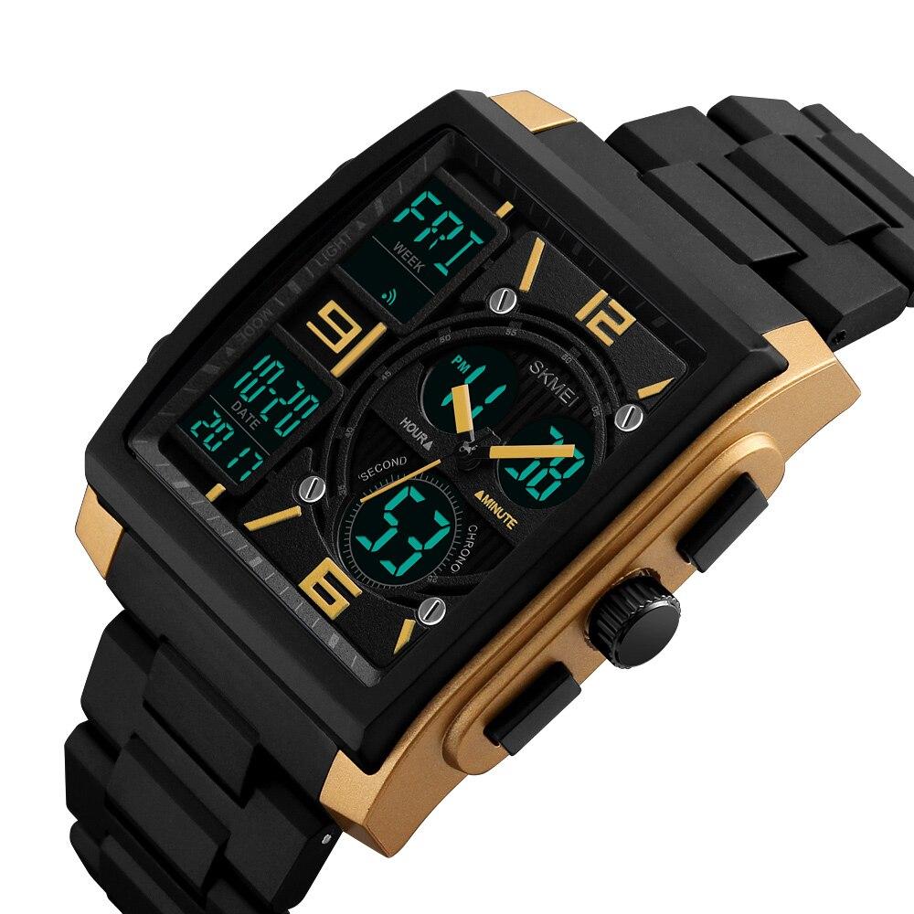 SKMEI Chrono Quarzo Da Polso Da Uomo Outdoor Sport Watch Led Digital Cronografo 50 M Impermeabile Orologi 1274 erkek kol saati