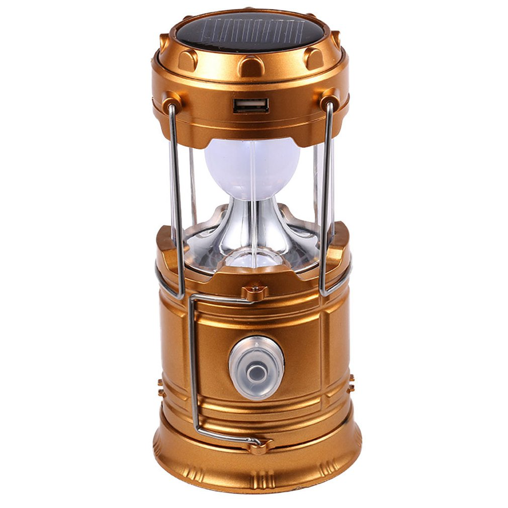 Outdoor Flashlights Luminaire Led Solar Power Collapsible Portable Led Rechargeable Hand  Camping Lantern Light