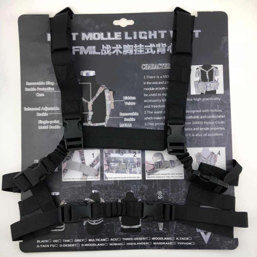 Đơn giản MOLLE Hệ Thống Cấu Hình Thấp Ngực Rig Vest Vest Quân Sự Quân Đội Săn Bắn Airsoft Vest Hồ Sơ Ngực Rig Vest Chiến Thuật