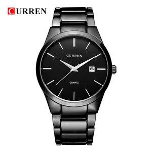Image 1 - Curren Luxe Merk Mannen Mode Business Calendarwatch Mannen Water Resistant Quartz Horloge 8106