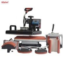 Wtsfwf 30*38 CM 6 in 1 Kombinierter Hitzepresse Drucker 2D Sublimation Transfer Drucker für Kappe Becher T-shirts platten Druck