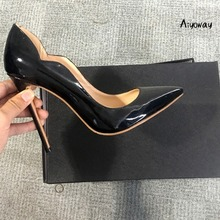 Aiyoway Sexy Women Shoes Pointed Toe High Heels Pumps Autumn Spring Clubwear Party Dress Shoes Slip On Big Size Sexy Thin Heels kjstyrka women pumps 2018 autumn shoes transparent 10cm high heels sexy pointed toe slip on clear party dress shoes for lady