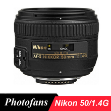 Nikon 50 1.4 г AF-S NIKKOR 50 мм f/1.4 г объектив для Nikon D3400 D3300 D5200 D5300 D90 D7100 D7200 D500 D610 D700 D750 DF D810 D4 D5