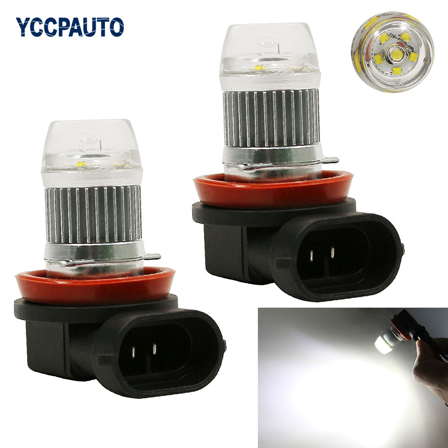 H8 H11 Led Lights DRL White Daytime Running Light Fog Driving Lamp Bulb High Power LED Xenon 12V-24V 2Pcs Good Quality Power dc12v h7 7 5w 5led led fog light high power car auto led xenon white daytime running light bulbs headlight head lights
