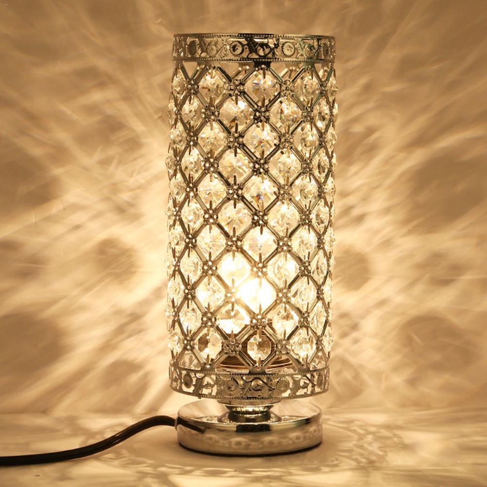 Led Crystal Table Lamp Modern Beauty Eyeshield Desk Lamp For Home Bedroom Living Room Decoration Bedside Lamp office table decoration led desk lamp nightlights bedside room sitting room heart shape feather crystal table lamp