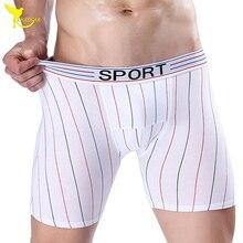 CHENKE Brand 2017 Cotton Male Underwear Striped Boxer Shorts U Convex Pouch Sexy Long Leg Men Boxers Underpants Panties L-XXXL