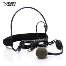 3,5 мм Мужской Внешний винт запираемый проводной вокальный головной динамик динамический микрофон гарнитура микрофонная капсула для беспроводного передатчика