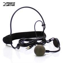 3.5mm mâle externe vis verrouillable filaire Vocal casque dynamique micro casque Microphone Capsule pour émetteur Bodypack sans fil