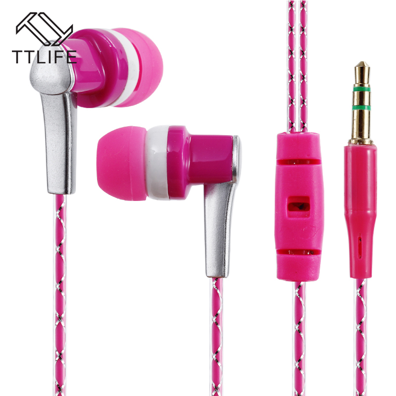Original Headset TTLIFE Wired Sports Earphones GPK3 HiFi Stereo Headphone Music In-ear With Mic for Android Phone Xiaomi Mp3 original xiaomi hybrid earphone units with mic remote in ear hifi earphones with mic circle iron mixed for xiaomi redmi mobile