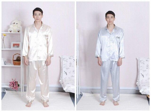 Free Shipping Chinese Men's Silk Rayon 2pc Nightwear Robe sleepwear Pyjamas Sets Bath Gown S M L XL XXL XXXL   SH0007