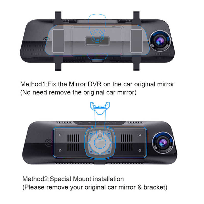 "Junsun מיוחד ADAS רכב אנדרואיד מראה 4G DVR מצלמה 10 ""אוטומטי RearView מירור 1080P WiFi GPS דאש מצלמת רשם וידאו מקליט"