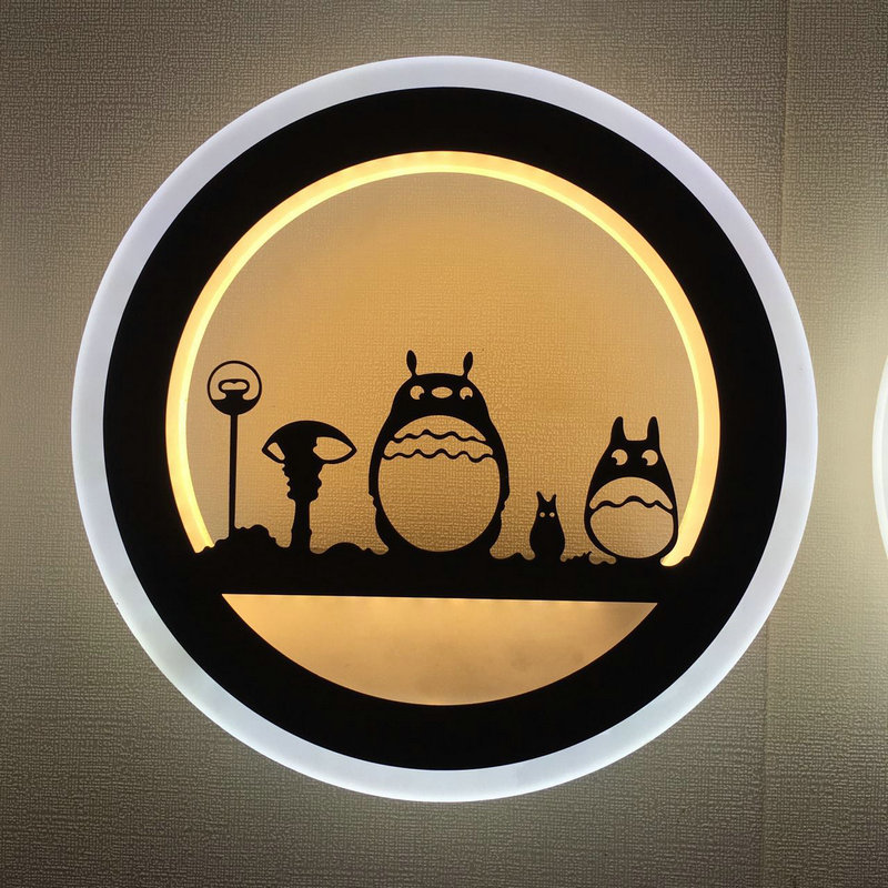 6w 12w Artpad Modern Bedroom Bedside Wall Lamp Cute Cartoon 3D Acrylic LED Night Lights for Kids Baby Child Rooms Living Room