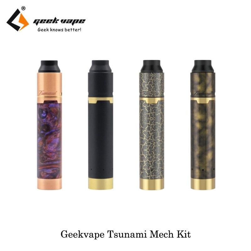 Original Geekvape Tsunami Mech Kit Black Ring Plus Mechanical Mod Tsunami Pro 25 RDA Tank E-Cigarettes Box MOD Vape Vaporizer