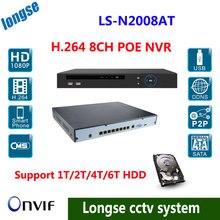 8-КАНАЛЬНЫЙ 1080 P POE NVR, Full HD 8 каналов Сетевой Видеорегистратор С 8 POE Портов HDMI Выход VGA P2P Поддержка PC Mobile View