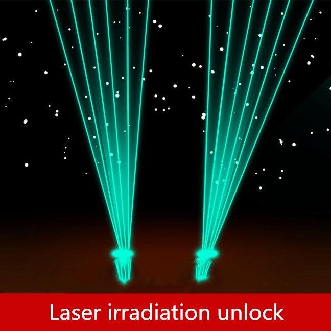 9527 la vraie vie évasion des accessoires de chambre jeux laser Déverrouiller Laser irradiation Le récepteur va débloquer après un certain nombre de fois