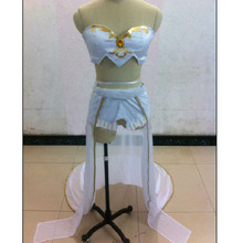 Disfraces de Halloween Janna cosplay costume set completo Tube Top + falda corta + guantes + Leggings