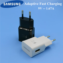 Original EU Samsung Galaxy s8 Charger travel adapter adaptive fast charging for s6 s7 edge S9 plus note 8 9 A8 A5 2017 a7 2018