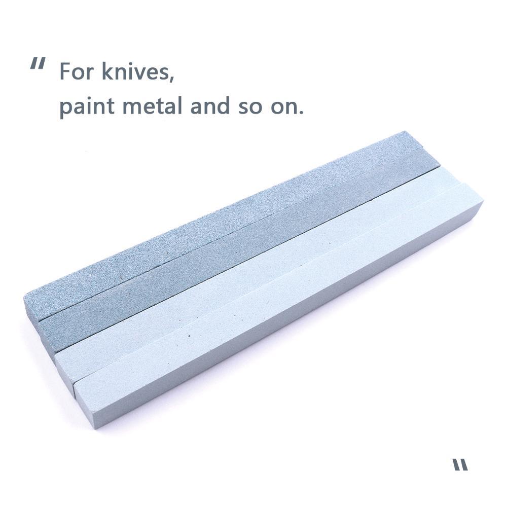 3pcs 150x10x10mm Oil Stone Green Silicon Carbide Sand Bar Stone Paint Metal Knife Sharpener Grindstone Kit 120# 240# 320# Grit