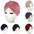 2016 Women Hats stretchy cotton turban dome cap head wrap Hijab Hair Loss Cancer Head Scarves Chemotherapy Alopecia Caps