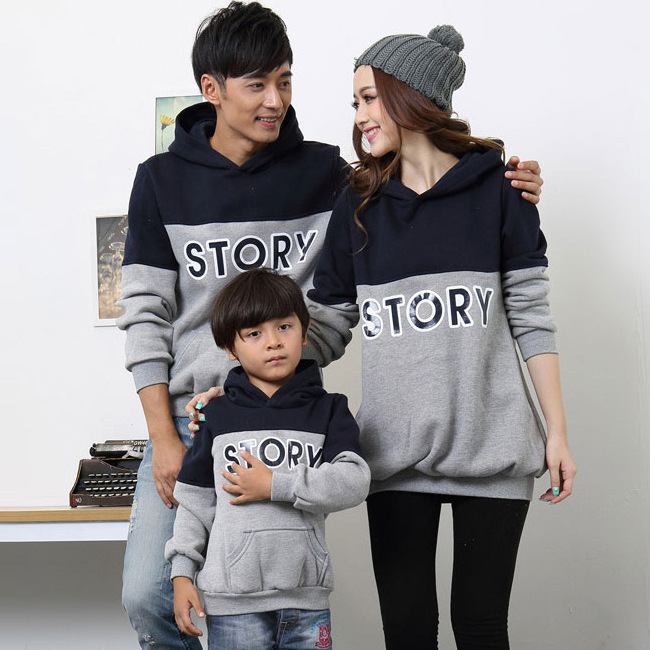 2016 spring new family clothing mother Dad kid long sleeve t-shirts Sweatshirts factory direct wholesale tide