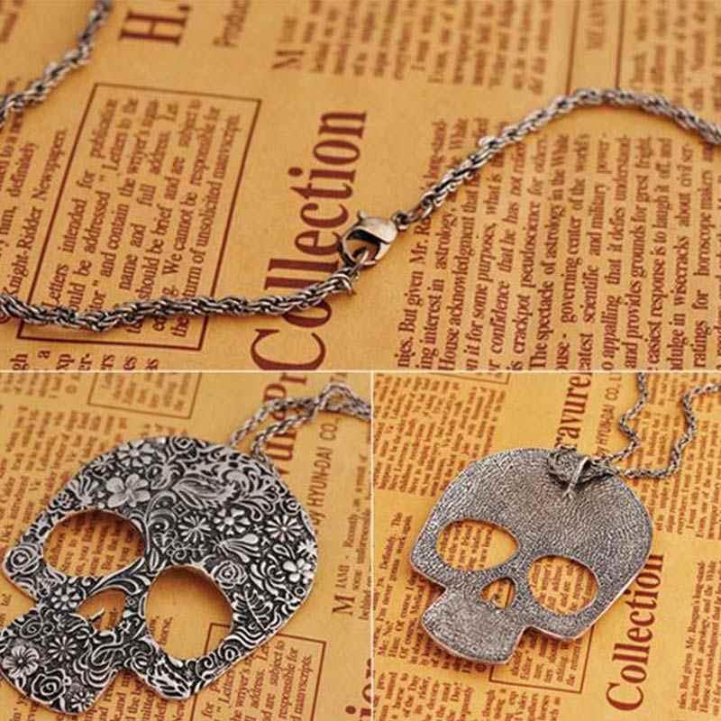 جديد تصميم هيكل كبير القلائد للنساء الرجال steampunk من الجمجمة خمر قلادة القلائد الأزياء والمجوهرات # NL009
