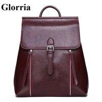 Glorria Women Leather Backpack Teenager Large Capacity Bookbag Women Luxury Backpack Female Waterproof Anti Theft Mochial