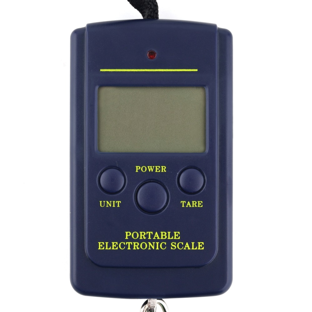 Pocket-Weight-Hook-Scale Digital Durable Electronic Fishing Hanging Display LCD 40kg/10g
