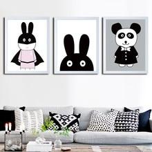 Cartoon Movie Rabbit Canvas Printing Animal Art Print Poster Cute Mask Superhero Kids Bedroom Nursery Wall Picture Home Decor