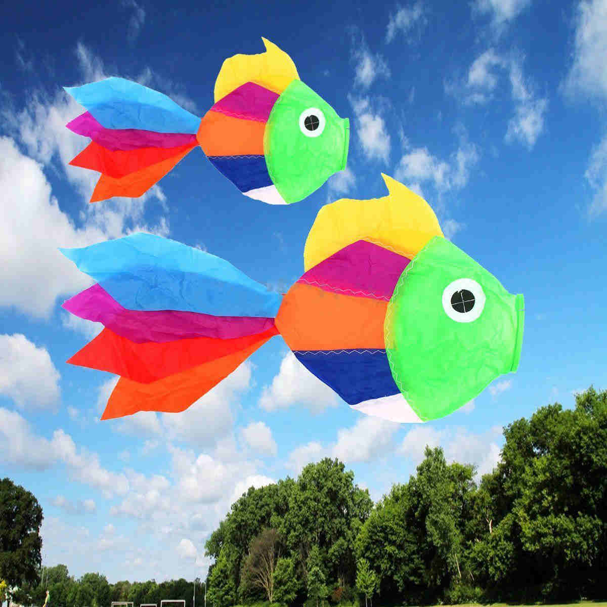 Outdoor Fun Sports Multicolor Fish Windsock Used To Hang On The Kite Or On Other Items
