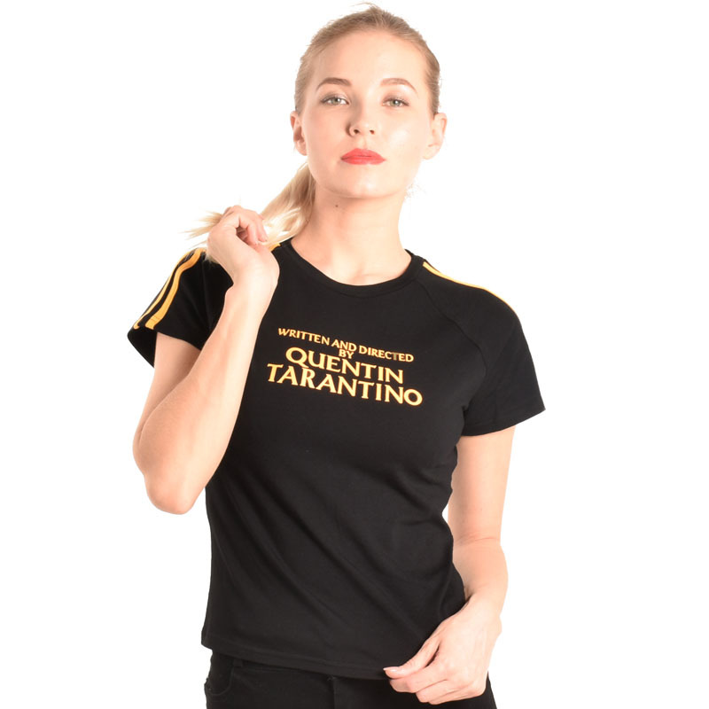 quentin-font-b-tarantino-b-font-t-shirt-women-side-strip-casual-short-sleeve-round-neck-tees-tops-black-yellow-basic-t-shirt-fitness-tops-tees