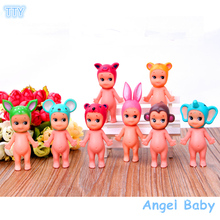 New 8pcs/set sonny Angel Action figure 8cm PVC Angel babay figure Animal model toy for children gifts free shipping