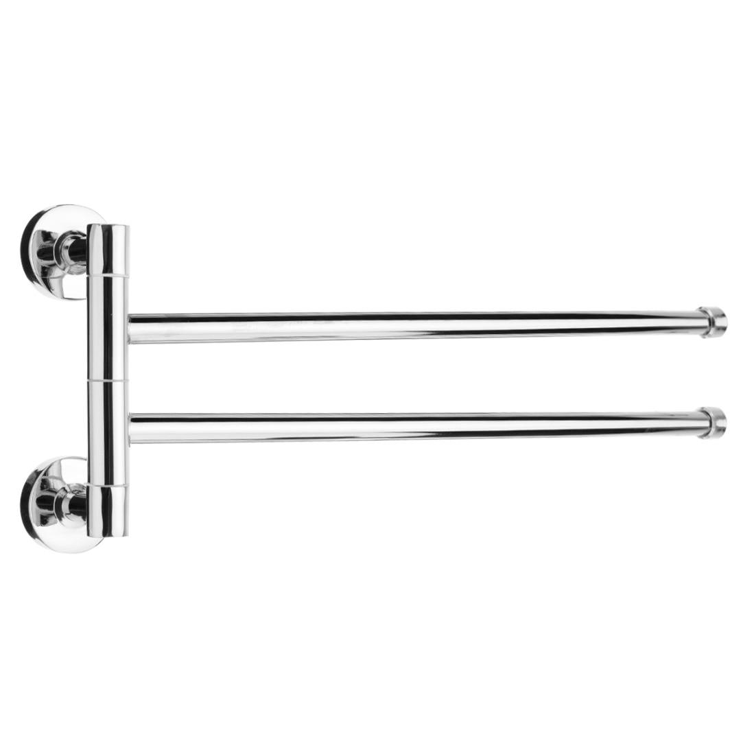 3 Arm Wall Mounted Stainless Steel Towel Rail Holder Swivel Rack Bathroom