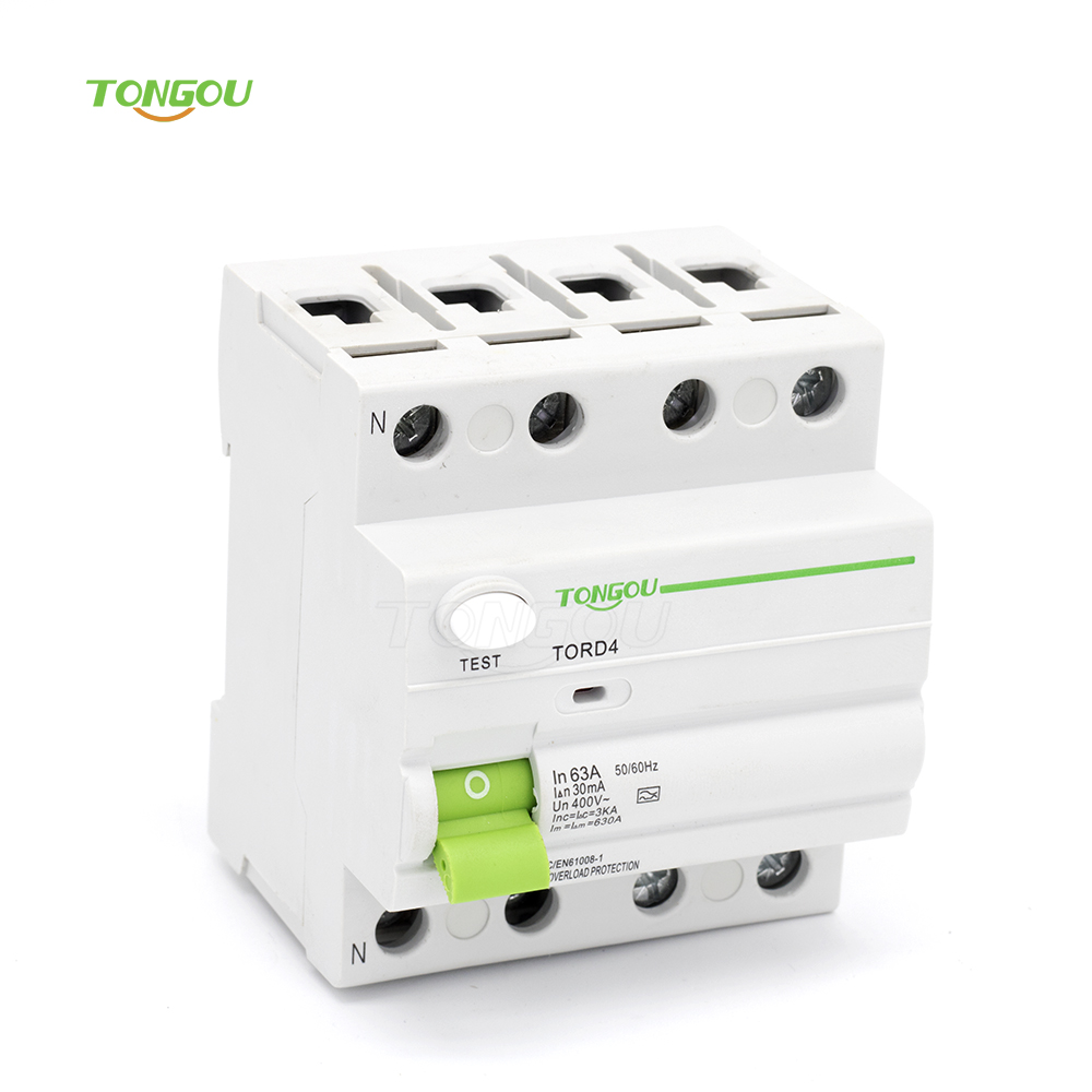 4P 63A 30mA 220V 380V AC Electromagnetic Type Residual Current Device RCD RCCB with 5 Years Warranty TORD4-63 63a 3 p 3 p n rcbo rcd выключателя de47le delxi