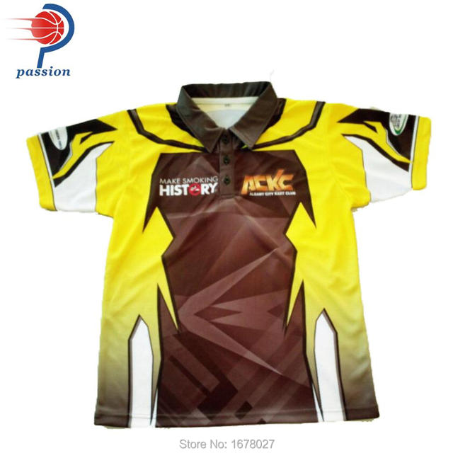 Wholesale Custom Polyester Racing Pit Crew Shirt With Sublimation In