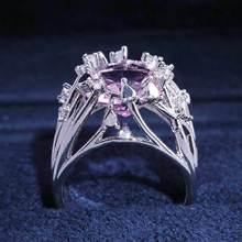 Diamond ring rose gold rings Crystal moissanite Mosaic crystal zircon Luxury jewelry Valentines Day Cubic zirconia B2732